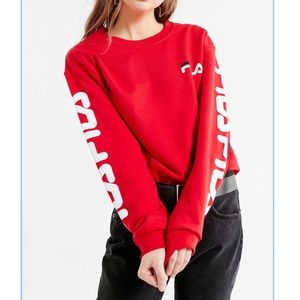 Red Fila x Urban Outfitters Crew Neck